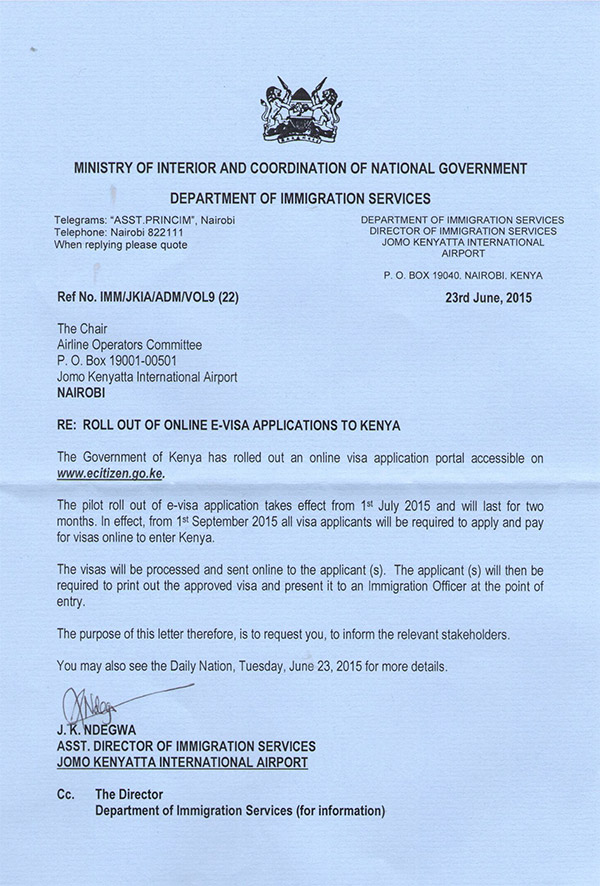 How to write an application letter in kenya